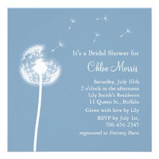 ¡Recuerdos azules! Invitación nupcial de la ducha
