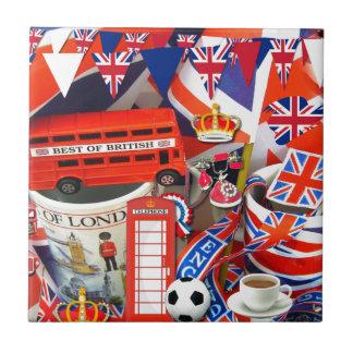 Recuerdos británicos azulejo cuadrado pequeño