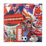 Recuerdos británicos azulejos cerámicos