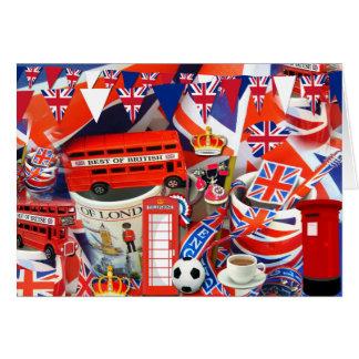 Recuerdos británicos tarjeta de felicitación