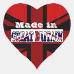 Recuerdos británicos Union Jack del turismo Calcomanía Corazón