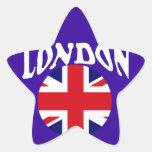 Recuerdos británicos Union Jack del turismo Calcomania Cuadrada Personalizada