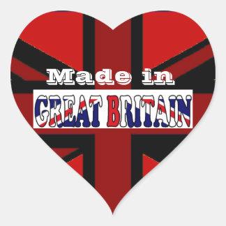 Recuerdos británicos Union Jack del turismo Pegatina En Forma De Corazón