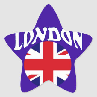 Recuerdos británicos Union Jack del turismo Pegatina En Forma De Estrella