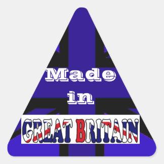 Recuerdos británicos Union Jack del turismo Pegatina Triangular