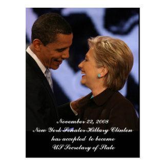 Recuerdos de la inauguración de Obama - de Clinton Tarjeta Postal