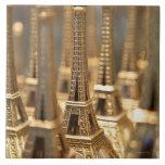 Recuerdos de la torre Eiffel Azulejo Cuadrado Grande