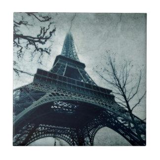 recuerdos de la torre Eiffel Azulejo Cuadrado Pequeño