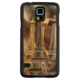 Recuerdos de la torre Eiffel Funda De Galaxy S5 Slim Cerezo