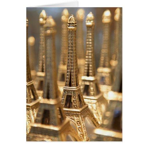 Recuerdos de la torre Eiffel Tarjeta De Felicitación