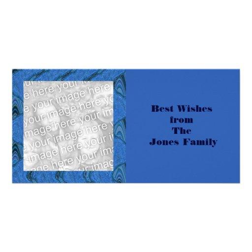 recuerdos de mármol azules tarjetas fotográficas