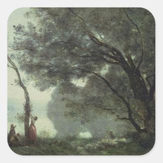 Recuerdos de Mortefontaine, 1864 Pegatina Cuadradas