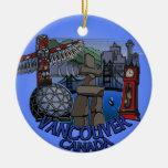 Recuerdos de Vancouver del ornamento de Vancouver Adorno Redondo De Cerámica