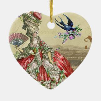 Recuerdos de Versalles Adorno Navideño De Cerámica En Forma De Corazón