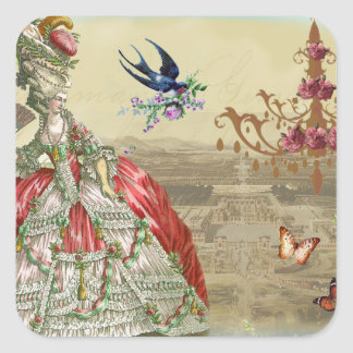 Recuerdos de Versalles Calcomanías Cuadradas