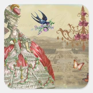 Recuerdos de Versalles Pegatina Cuadrada