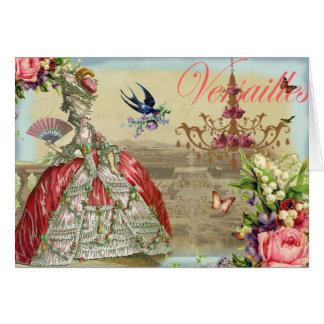 Recuerdos de Versalles Tarjeta De Felicitación