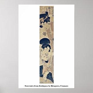 Recuerdos de Zoshigaya por Kitagawa, Utamaro Poster