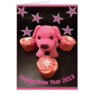 Recuerdos del abucheo rosado tarjeta de felicitación