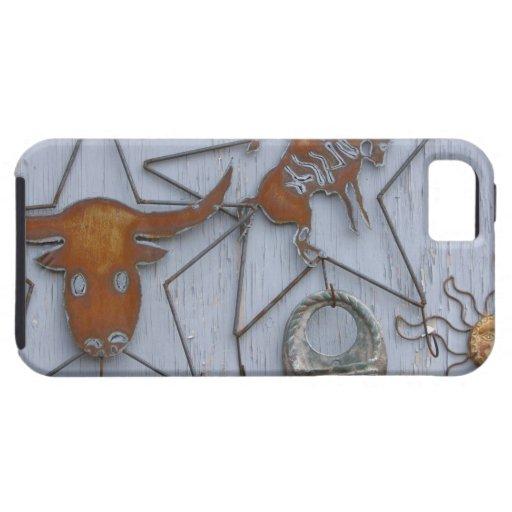 Recuerdos del arte del metal en la pared al aire funda para iPhone SE/5/5s