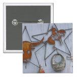 Recuerdos del arte del metal en la pared al aire pin cuadrado