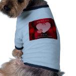 Recuerdos del el día de San Valentín Ropa De Perro