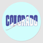 Recuerdos del estado de Colorado Pegatina
