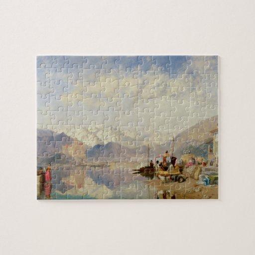 Recuerdos del Lago Maggiore, día de mercado en Puzzles Con Fotos