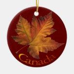 Recuerdos del ornamento de Canadá y regalos de Adorno Navideño Redondo De Cerámica