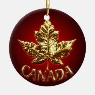 Recuerdos del ornamento de Canadá y regalos de Adorno Redondo De Cerámica