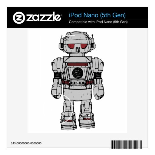 Recuerdos del robot de propulsión atómica del jugu calcomanías para iPod nano 5G