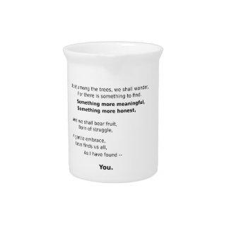 Recuerdos encantadores jarra para bebida