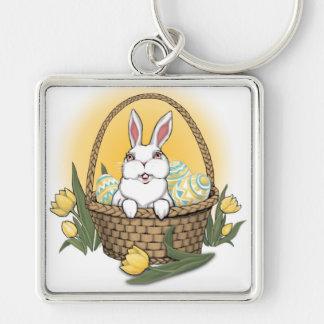 Recuerdos festivos de Pascua del llavero del conej