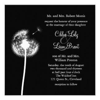 ¡Recuerdos! Invitación del boda (negro)