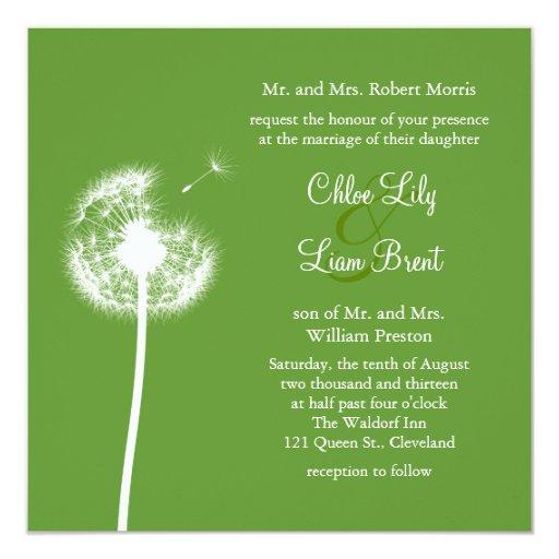 ¡Recuerdos! Invitación del boda (verde)