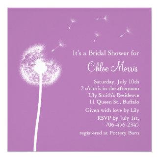 ¡Recuerdos! Invitación nupcial de la ducha (púrpur