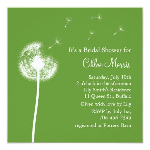 ¡Recuerdos! Invitación nupcial de la ducha (verde)