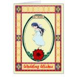 Recuerdos - novia tarjeta de felicitación