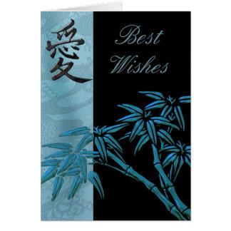 Recuerdos o cumpleaños de bambú asiáticos de la ta