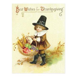 Recuerdos para la acción de gracias tarjeta postal