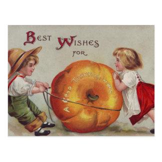 Recuerdos para una buena acción de gracias postales