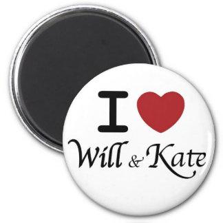 Recuerdos reales del boda para Guillermo y Kate Imán Redondo 5 Cm