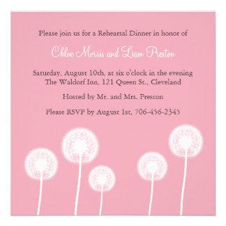 ¡Recuerdos rosados! Invitación de la cena del ensa