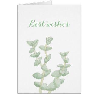 Recuerdos suculentos verdes tarjeta pequeña
