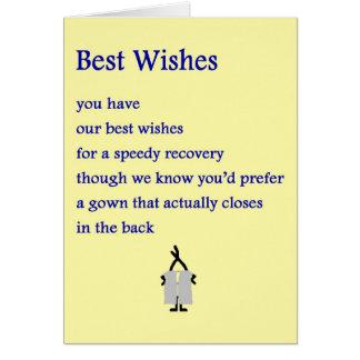 Recuerdos - un divertido consigue el poema bien tarjeta de felicitación