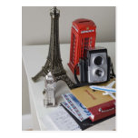 Recuerdos y cámara tarjetas postales