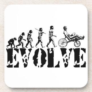 Recumbent Bicycle Evolution Fun Sports Art Beverage Coaster