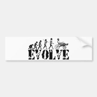 Recumbent Bicycle Evolution Fun Sports Art Car Bumper Sticker
