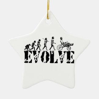 Recumbent Bicycle Evolution Fun Sports Art Ceramic Ornament