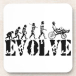 Recumbent Bicycle Evolution Fun Sports Art Coaster